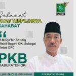 Dja'far Shodiq Jabat Terpilih sebagai Ketua DPC PKB OKI