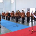 Sekda Muba Apriyadi melantik Pengurus PWRI Kecamatan, Selasa (6/7)