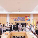 Penandatanganan MoU bersama Media di Sumsel, Rabu (7/7) di Kampus Utama Bina Darma