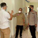 Sekretaris Daerah Muba Drs Apriyadi MSi mendatangi RSUD Sekayu, Rabu (7/7)