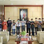 Wali Kota Prabumulih, H Ridho Yahya saat menerima audiensi Pengurus PWI Sumsel dan PWI Prabumulih, Jumat (9/7)