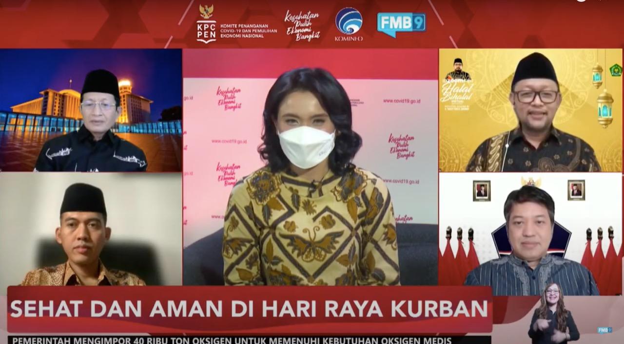 tangkapan layar Dialog Produktif KPCPEN yang ditayangkan di FMB9ID_IKP, Rabu (14/7)