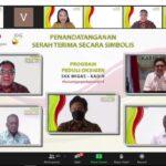 Penandatanganan secara simbolis Program Peduli Oksigen SKK Migas-KADIN, Jumat (16/7)