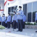 Wakil Bupati Asahan Taufik Zainal Abidin Siregar SSos MSi bertindak sebagai Pembina upacara pada Hari Kesadaran Nasional, Senin (19/7)