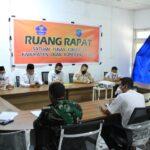 Rakor penanganan Covid-19 di posko Satgas Covid OKI, di Kayuagung