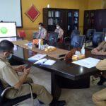 Rapat koordinasi realisasi anggaran DAK Fisik 2021 yang dibuka Wakil Gubernur Provinsi Sumatera Selatan secara virtual