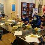 DPD Partai Demokrat Sumsel saat rapat jelang HUT ke-20 Partai Demokrat, Sabtu (7/8) siang