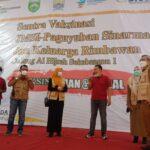 JMSI Sumsel, Paguyuban Sinar Mas dan Keluarga Rimbawa serta Dinas Kesehatan Kota Palembang menggelar 1000 vaksinasi bagi warga Palembang di Gedung Al Hijrah Jalan Sukabangun 1, Selasa (31/8)