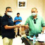 Kemas Khorul Mukhlis bersama H Alex Noerdin (foto: dok pribadi Kemas Khorul Mukhlis)