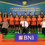 Ketum PP PBSI saat melepas Tim Piala Sudirman 2021 dan Piala Thomas & Uber 2020