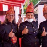Ketua Lembaga Pembina Adat OKU Timur H Leo Budi Rachmadi, SE (nomor 2 dari kanan)