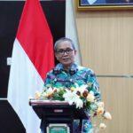 Pj Sekretaris Daerah Sumsel saat pelantikan pengurus baru PDBI Sumsel masa bakti 2021-2025 di Audutorium Bina Praja Setda Provinsi Sumsel, Sabtu (11/9).