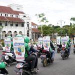 Grab dan PT Duta Serpack Inti hadirkan 100 Armada GrabBike Protect