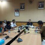 Kadispora Sumsel, H Ahmad Yusuf Wibowo saat menerima audiensi pengurus SIWO Sumsel, Kamis (16/9).