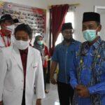 Wakil Bupati OKI H M Dja'far Shodiq saat menghadiiri HUT ke-76 PMI, Jumat (17/9)