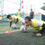 Muba Babel United saat menjalani sesi latihan