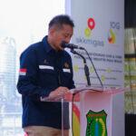 Kepala Perwakilan SKK Migas Sumbagsel, Anggono Mahendrawan saat sambutan pada peluncurkan MVC, Senin (27/9) di Eks Komplek Balai Latihan Kerja (BLK) Sekayu, Senin (27/9)
