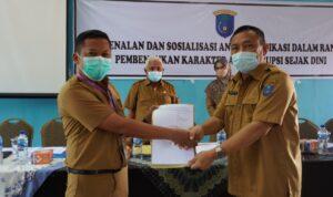 Sosialisasi Pengendalian Gratifikasi pada lingkungan pendidikan di wilayah Kabupaten OKI, Selasa (28/9)