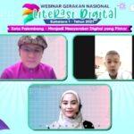 """SMB IV, RM Fauwaz Diradja SH MKn saat Webinar Gerakan Nasional Literasi Digital 2021 Kota Palembang dengan tema """"Menjadi Masyarakat Digital Yang Pintar"""""""