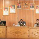 Diskusi tentang rencana pembentukan lembaga pencegahan karhutla di Kabupaten OKI, Rabu (28/9)