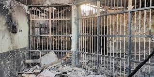 kondisi usai kebakaran di Lapas Kelas I Tangerang