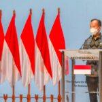 """Menteri Perindustrian Agus Gumiwang Kartasasmita dalam pembukaan pameran """"The Future Electric Vehicle Ecosystem for Indonesia"""" di JIEXPO, Jakarta, Senin (26/10)"""