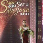 Kepala Perwakilan Bank Indonesia Provinsi Sumatera Selatan, Hari Widodo saat sambutan pada pembukaan Semarak UMKM (Seru) Sriwijaya 2021, Senin (25/10)