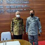 Kepala Bakamla RI, Laksamana Madya TNI Aan Kurni bersama Bupati Asahan, H Surya BSc