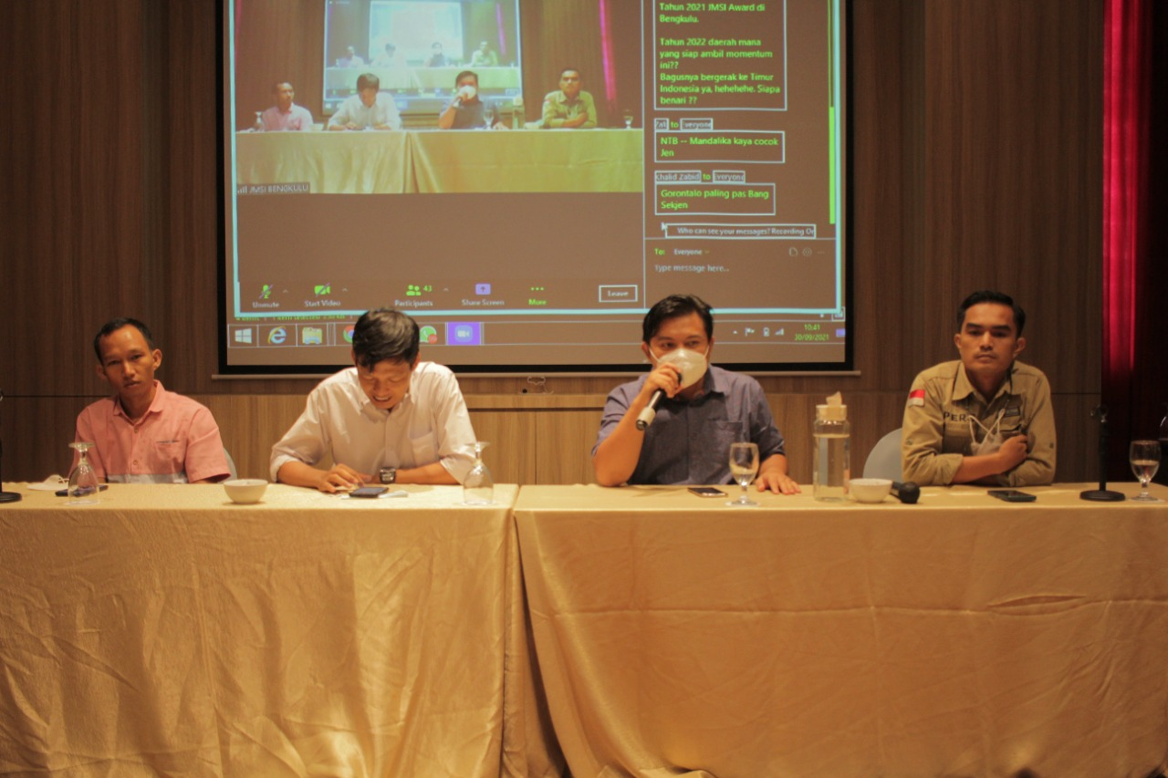 Konferensi pers peluncuran JMSI Award, Kamis, 30 September 2021 di Mercure Hotels Bengkulu.