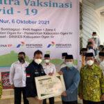 SKK Migas Perwakilan Sumbagsel dan KKKS mendukung program Giat Masjid Sentra Vaksin untuk 1.500 warga Ogan Ilir
