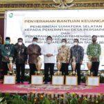Pemerintah Provinsi Sumatra Selatan menyerahkan hadiah kepada Pemenang Lomba Desa dan Kelurahan Tingkat Provinsi Sumsel Tahun 2021 di Griya Agung Palembang, Jumat (8/10)