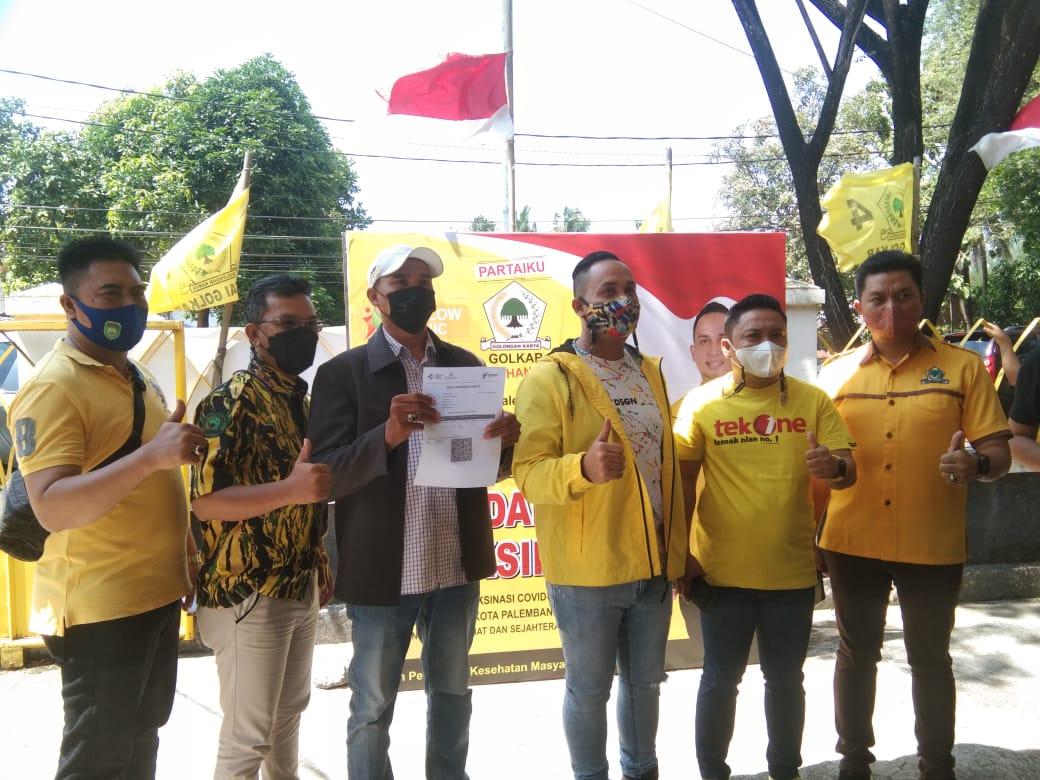 DPD II Partai Golkar Kota Palembang melaksanakan vaksinasi Covid-19 kedua, Sabtu (9/10)