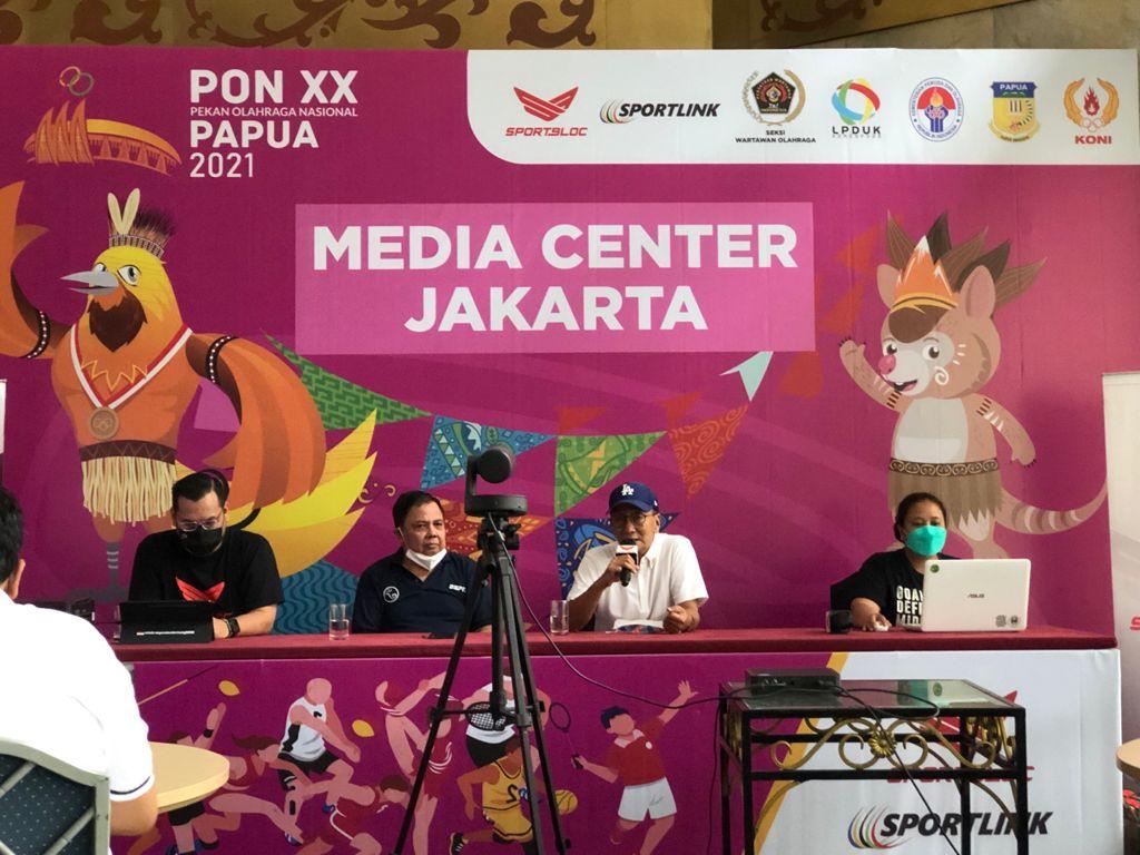 Konferensi pers peluncuran Tapcash BNI edisi olahraga dan Aplikasi Sportbloc