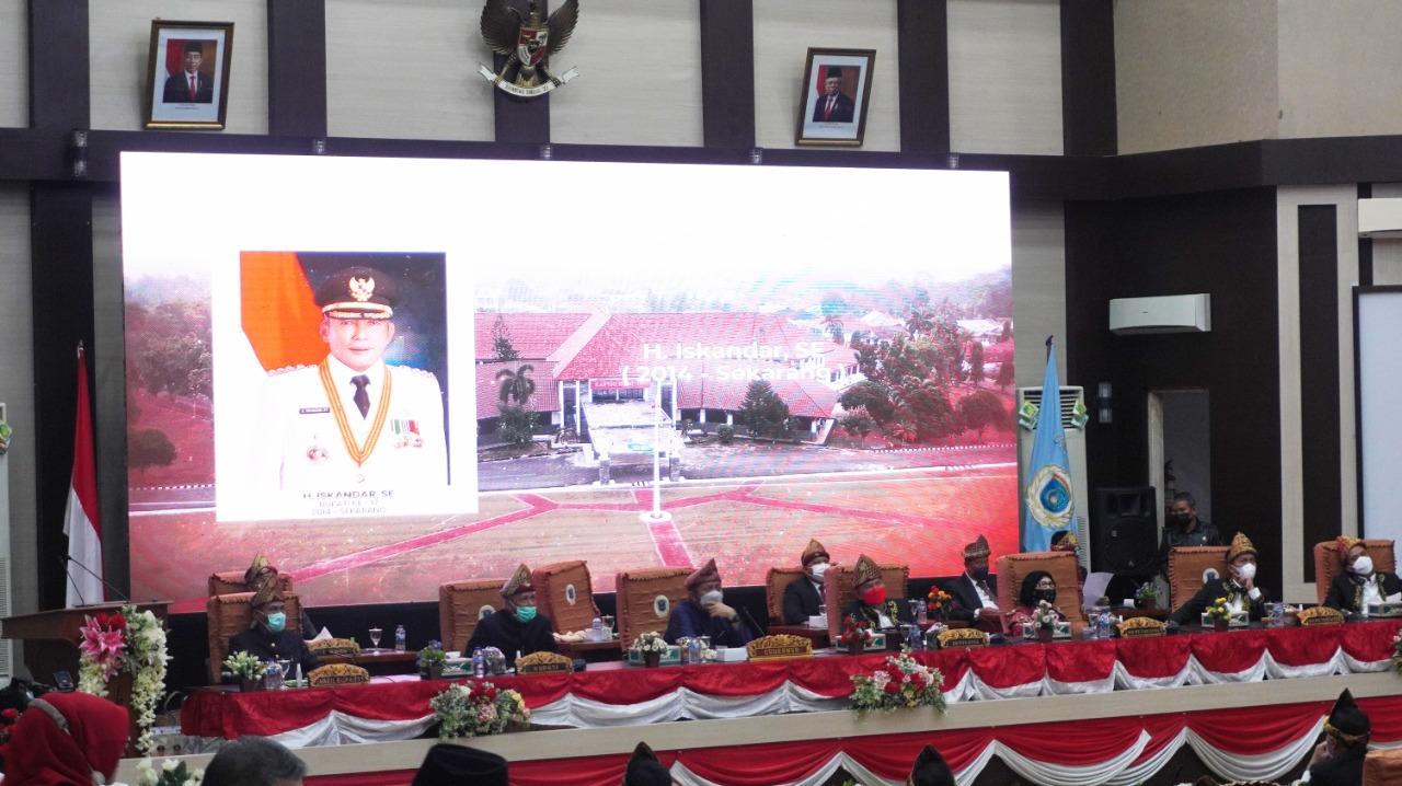 Rapat Paripurna Peringatan Hari Jadi ke-76 tahun Kabupaten Ogan Komering Ilir (OKI), Senin (11/10)