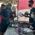 minimalisir kecurangan, surat suara pada pemilihan kades di Desa Sungai Lumpur ditandai barcode