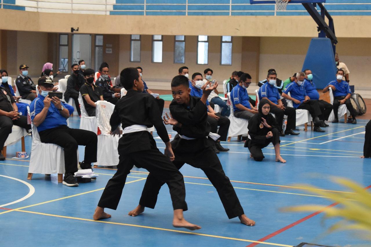 Pencak sSilat, salah satu cabang olahraga pada Pekan Olahraga Kabupaten (Porkab) OKI tahun 2021