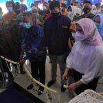 Wakil Bupati OKI, Dja'far Shodiq meresmikan poli rawat jalan RSUD Kayuagung, Sabtu (16/10)