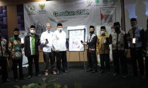 DPD DMI Kota Denpasar menggelar acara launching 25K untuk renovasi Masjid/Musala se-Kota Denpasar, Sabtu (16/10) pagi.
