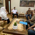 Wali Kota Semarang, Hendrar Prihadi menerima audiensi pengurus dan panitia Rakernas JMSI, Senin (18/10)