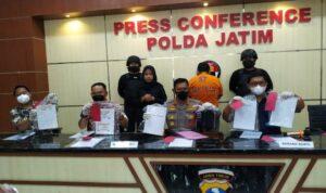 Konferensi pers Polda Jatim terkait kasus penipuan seleksi penerimaan taruna akpol