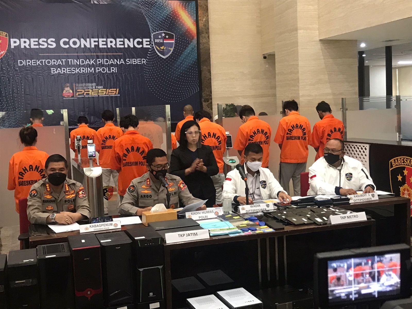 Polri berhasil mengungkap sindikat ilegal akses dan backlink judi online di situs pemerintah
