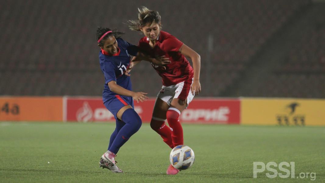 Penyerang Timnas Wanita Indonesia, Zahra Muzdalifah masuk ke dalam daftar enam pemain terbaik versi AFC pada babak kualifikasi Piala Asia Wanita 2022